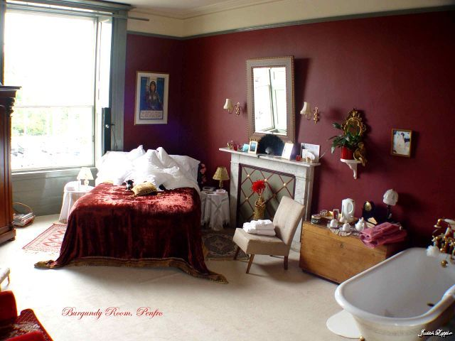 pretty burgundy room at penfro b pembroke - Maroon Bedroom Interior