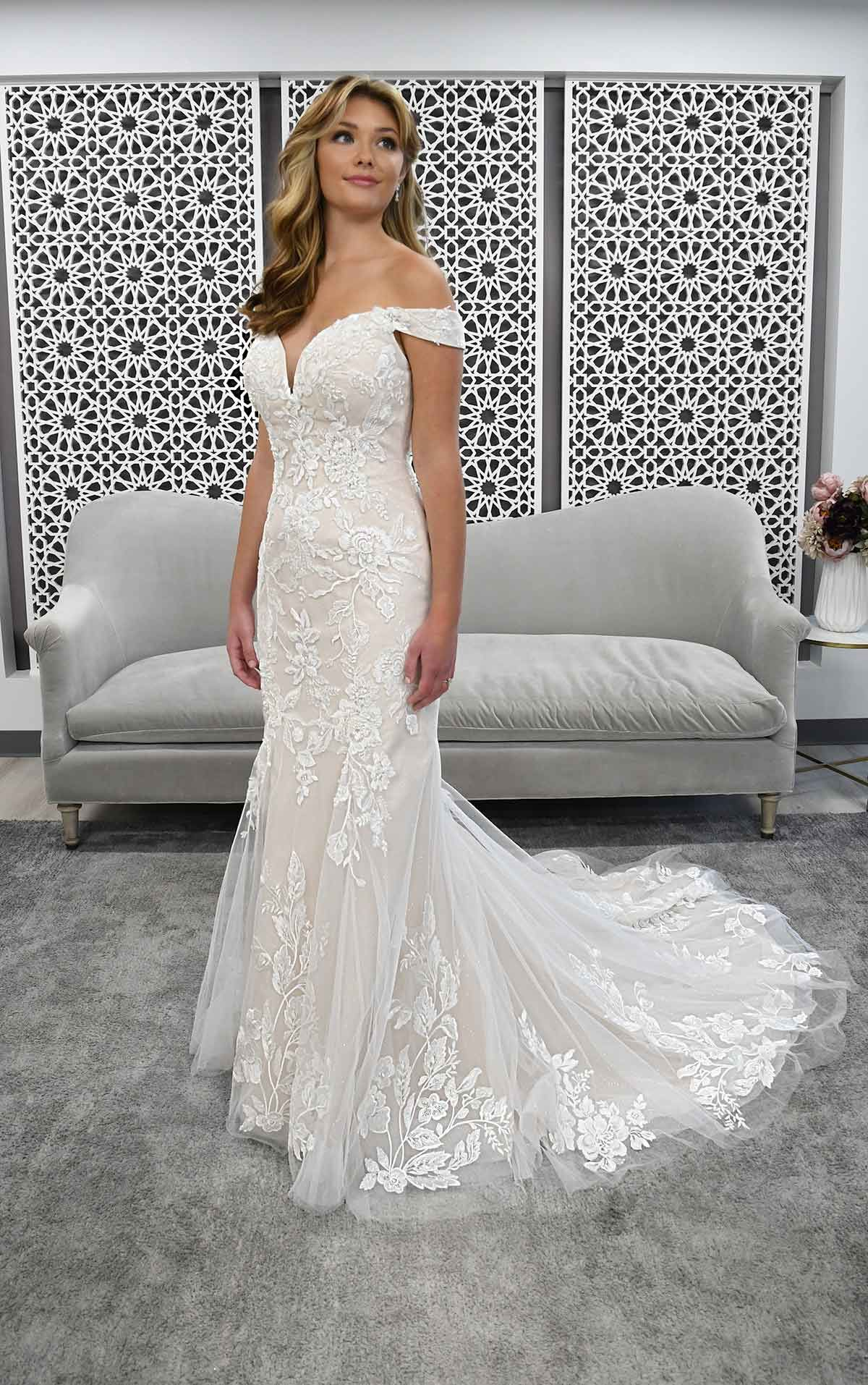 18 Best Off the Shoulder Wedding Dresses ideas in 18   wedding ...