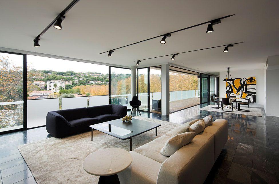 Moderne Wohnung-schwarz weiß-grau sessel-design-klassiker schwarze - moderne wohnzimmer grau
