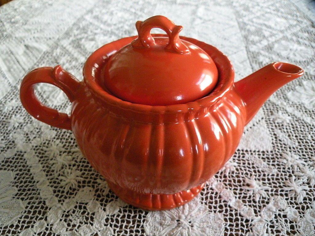 6\  Teapot by Stangl Colonial 1388 Tangerine Orange | eBay & 6\