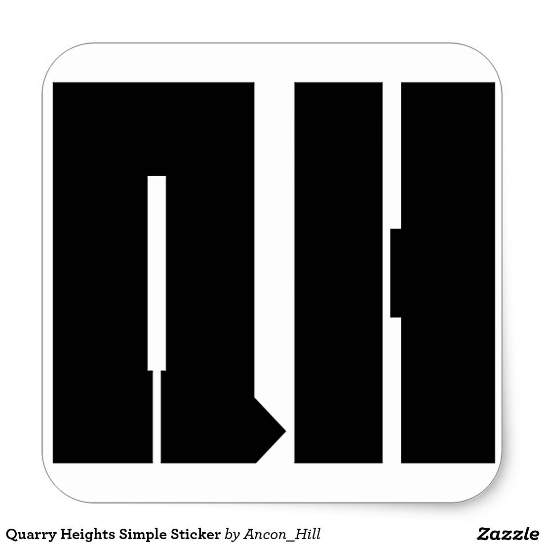 Quarry Heights Simple Sticker - PANAMA CANAL ZONE