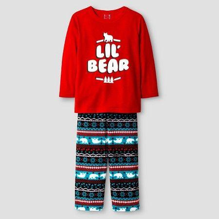 a3a4e68d2d Baby Lil' Bear 2-Piece Pajama Set - Red : Target | Christmas ...