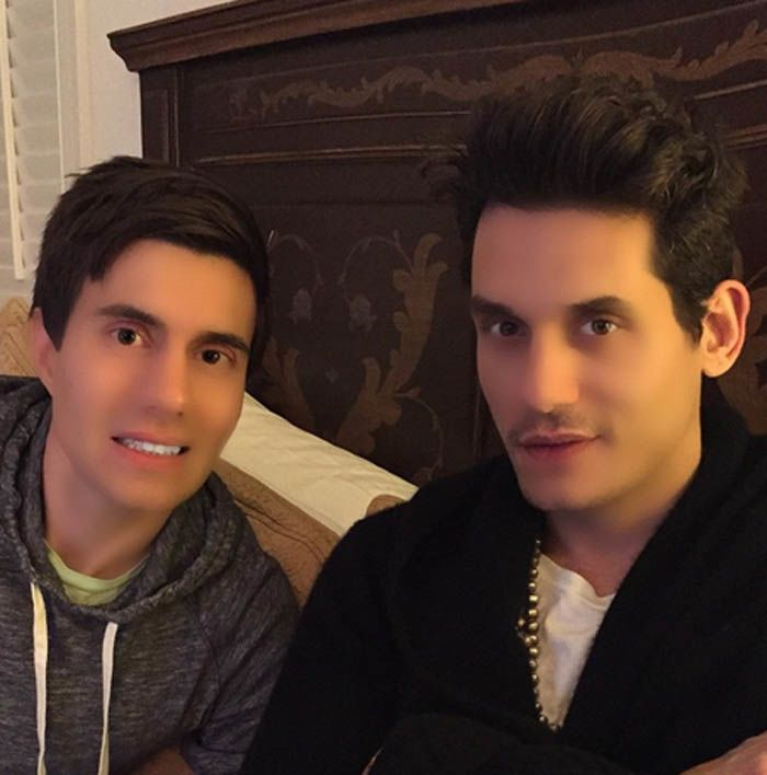 John Mayer and a friend—or two wax figures? http://beautyeditor.ca/2015/01/03/lady-gaga-shiseido