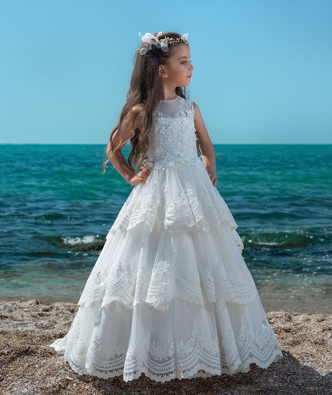 Lace Flower Girl Dresses Princess Pageant Dresses Kids\' Wedding ...