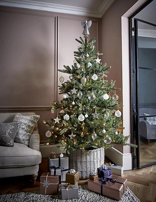 6ft Pre Lit Noble Fir Christmas Tree M S Fir Christmas Tree Noble Fir Christmas Tree Christmas Tree