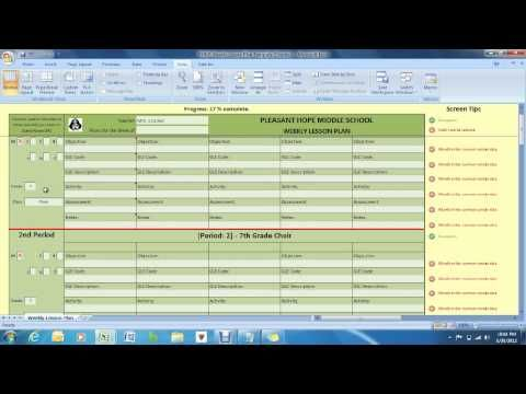 Weekly Lesson Plan Template  How to organize yourself for your     Weekly Lesson Plan Template  How to organize yourself for your students so  that they can
