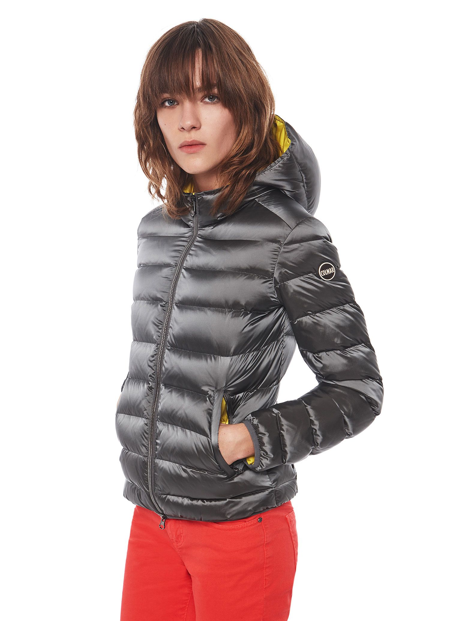 9e0ee2c584a Colmar Originals women's down jacket with hood in lightweight satin ...