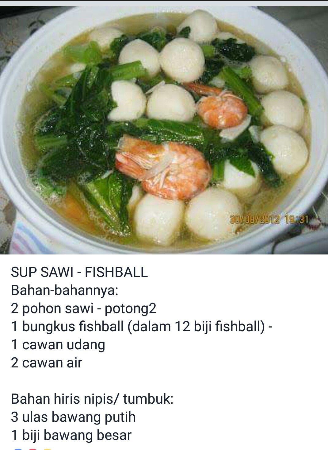 Sup Fishball Masakan Sup Bawang Putih