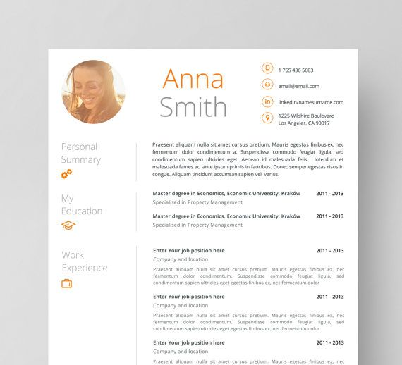 Resume Template no1 + Cover letter + Reference page + Business - reference resume template