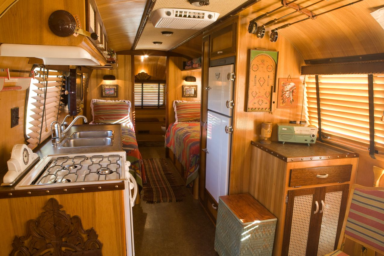 interior Vintage airstream trailers