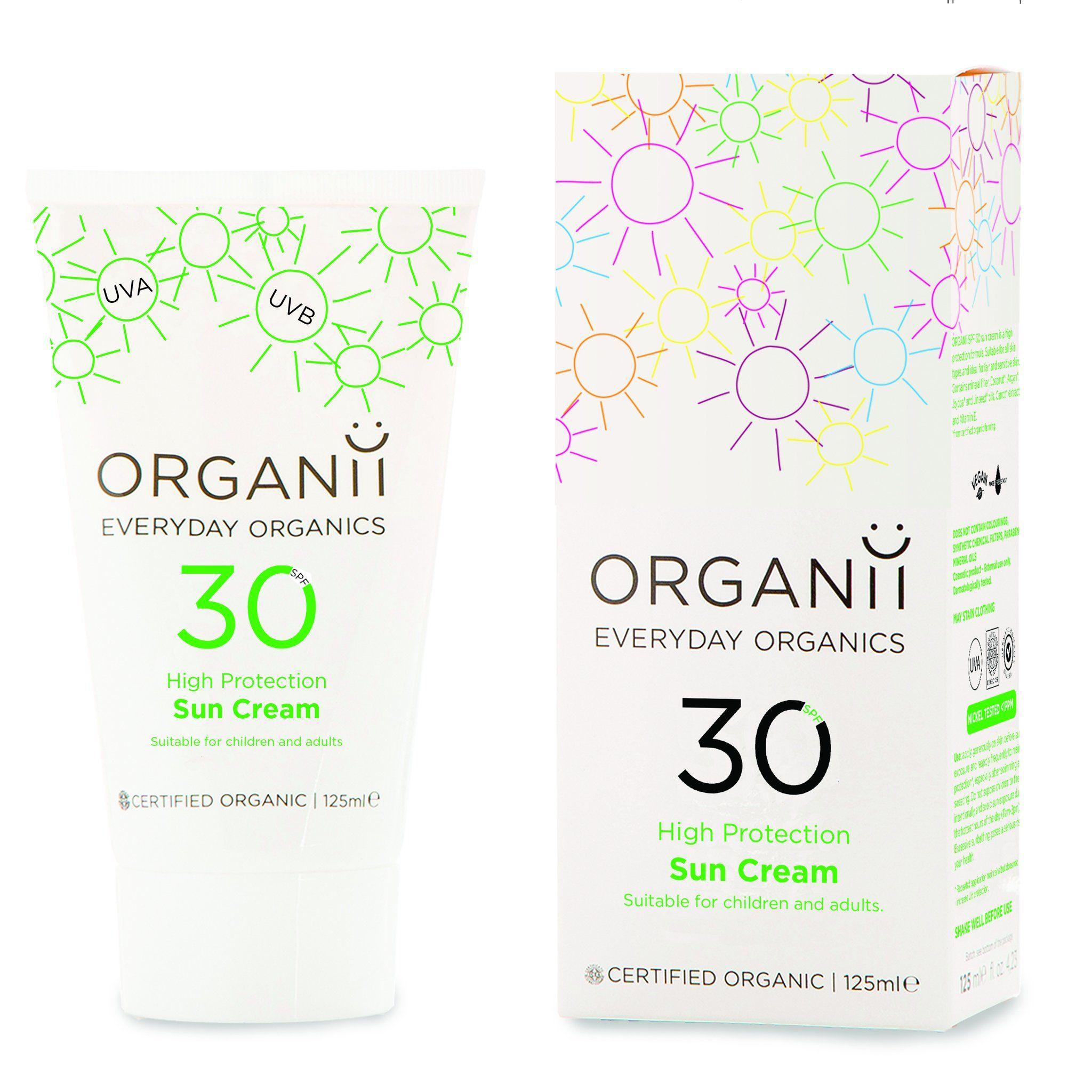 Organii Sun Milk SPF 30 125ml in 2020 Natural