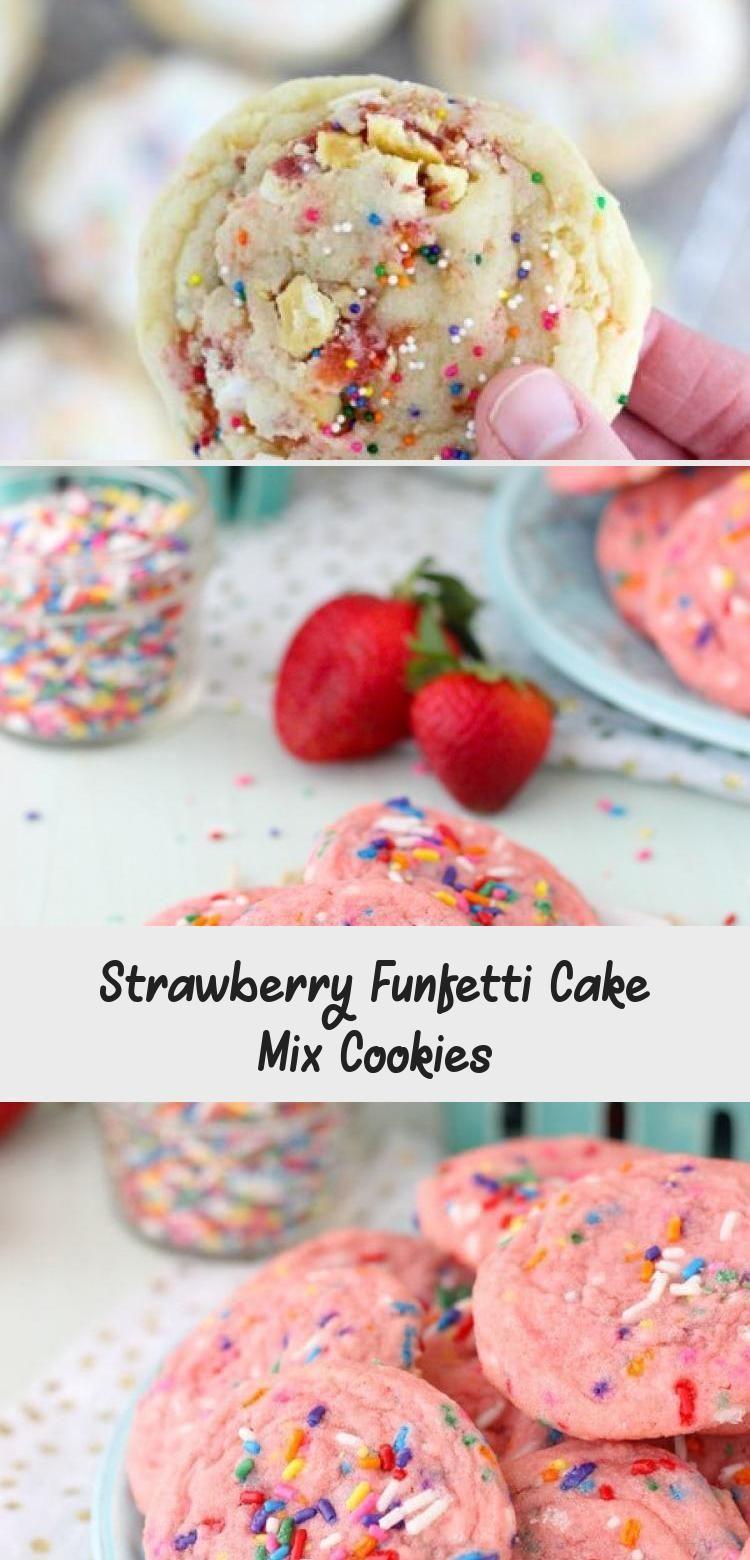 Photo of Strawberry Funfetti Cake Mix Cookies #PinataKuchenSchoko #PinataKuchenEinfach #P…