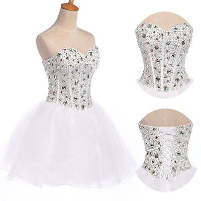 tutu corset beaded prom short mini ball gowns wedding