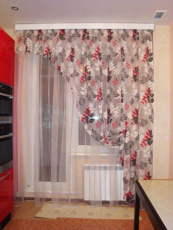 Выкройки занавески на кухню своими