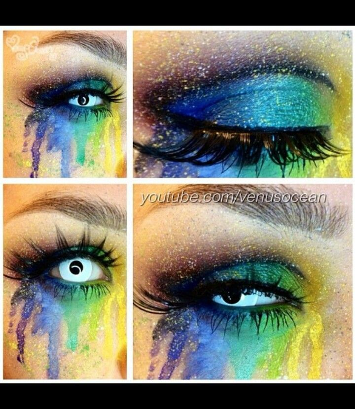 Rainbow, special effects, makeup, fx makeup, contacts, fx contacts, sugar pill