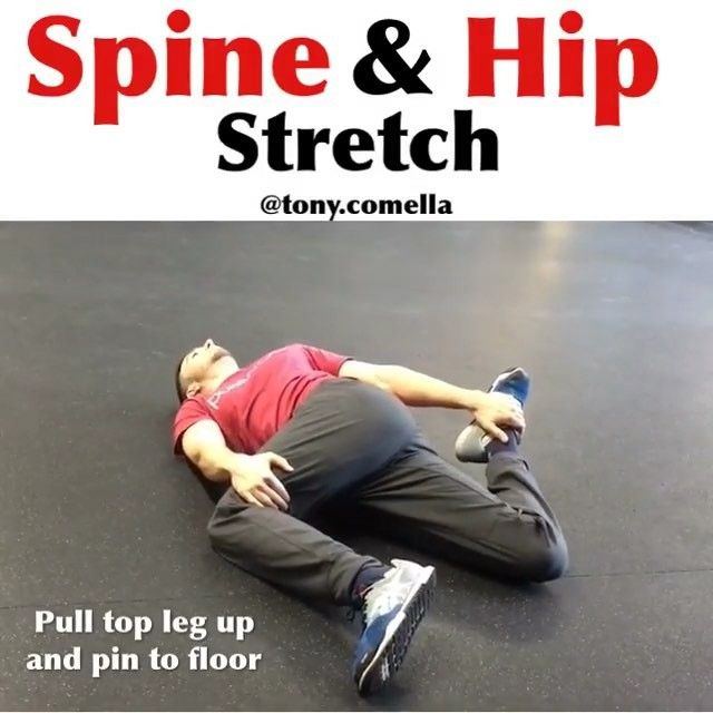 Great creative lower body and spine stretch from @tonyella ! Be