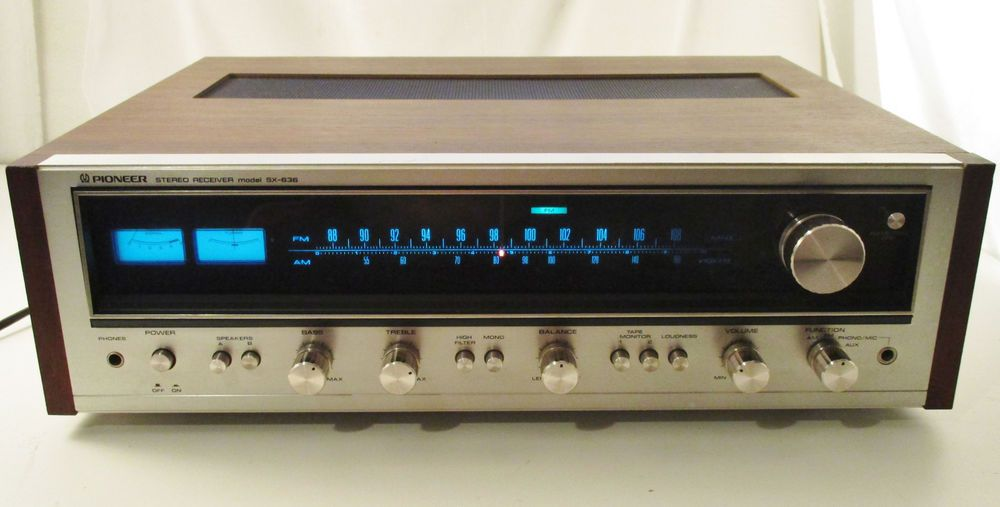Vintage SX-636 Pioneer Receiver140 Watts tested and works