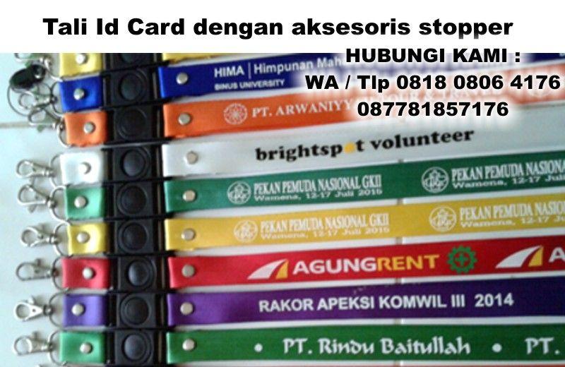 Tali Id Card Dengan Aksesoris Stopper