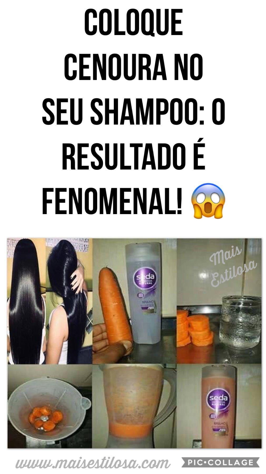 Shampoo De Cenoura Caseiro Para O Cabelo Crescer Muito Rapido