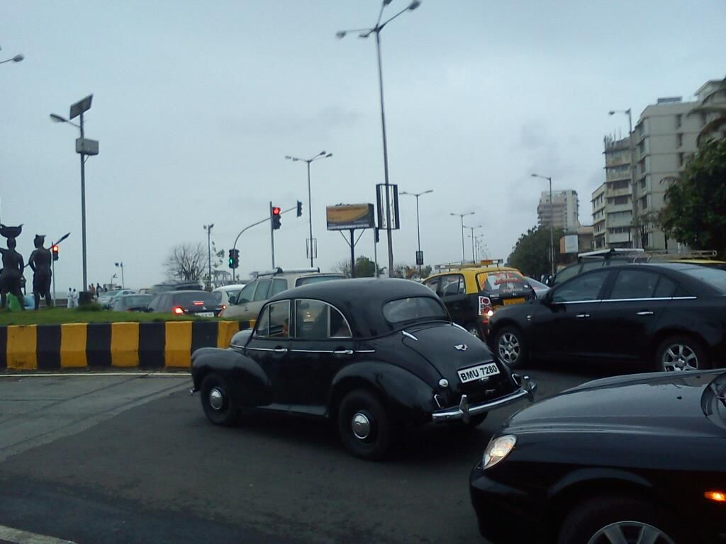 A Morris Minor at Worli Sea Face