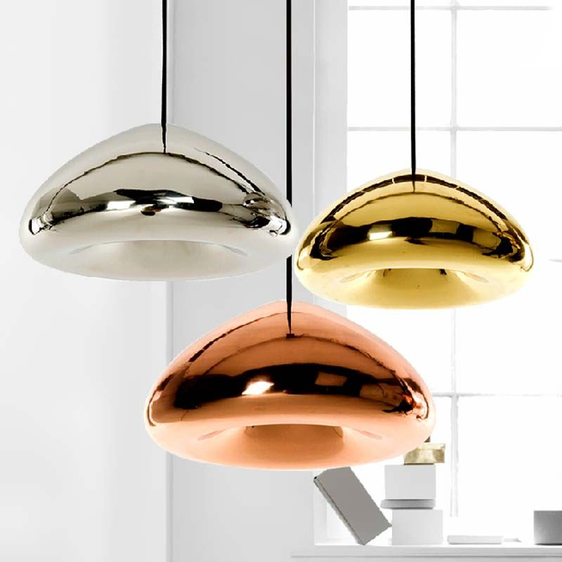 tom dixon koperen schaduw glas hanglamp ontwerper geleid moderne ...