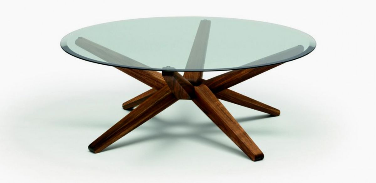 Round Coffee Table With Wooden Base Furniture Round Glass Coffee