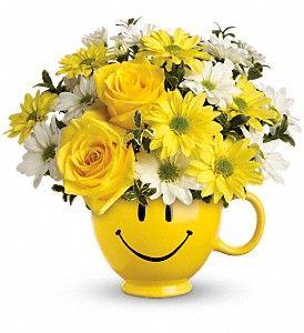 Teleflora's Be Happy Bouquet with Roses  http://www.parkavenueflorist.net/orange-park-flowers/telefloras-be-happy-bouquet-with-roses-372560p.asp?rcid=84&point=1