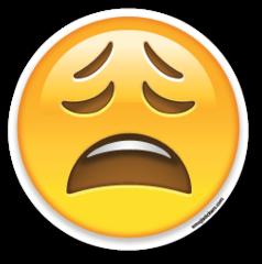 Weary Face Emojistickers Com Emoji Stickers Emoji Emoji Faces