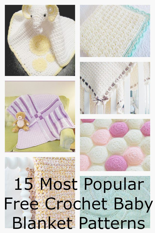 15 Most Popular Free Crochet Baby Blanket Patterns | Patrones de ...
