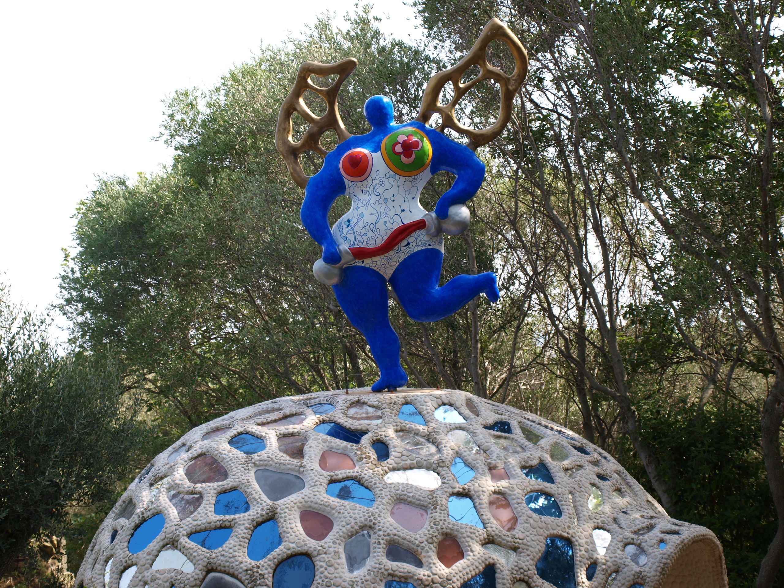 Il Giardino dei Tarocchi Niki de Saint Phalle dettaglio di una