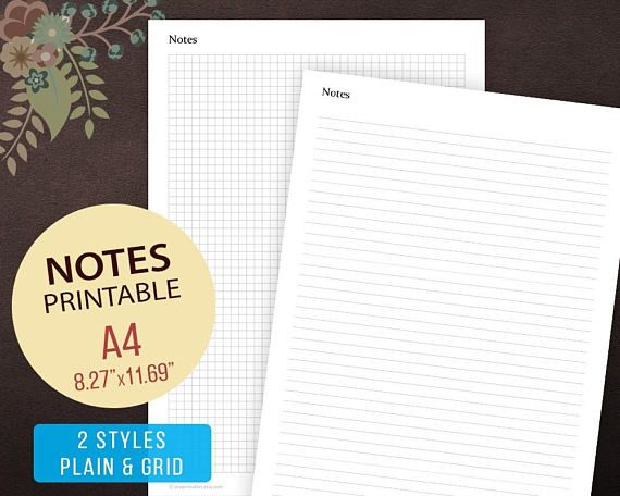 image about Printable Note Pages identified as Notes Web site Template, Notes Website page Printable, Notes Template