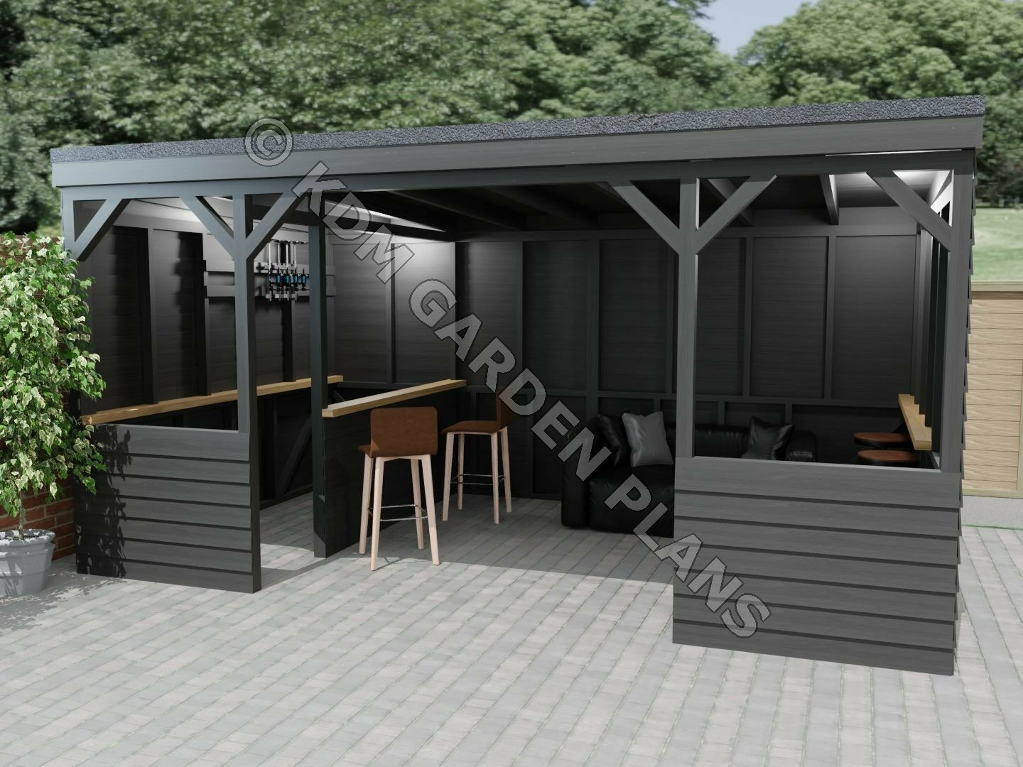 Woodwork Plans for Bar Hot Tub Shelter 3.0mx4.8m Pub (Plans Only by Email)  | eBay