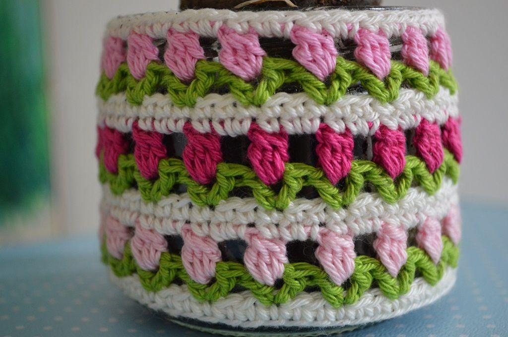 Gehäkelter Vasenponcho ;)! #häkeln #gehäkelt #crochet #Vase #Blumen ...
