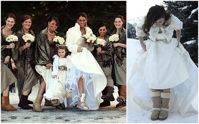 Would You Wear UGG Boots At Your Wedding? | Winter weddings, Winter ...