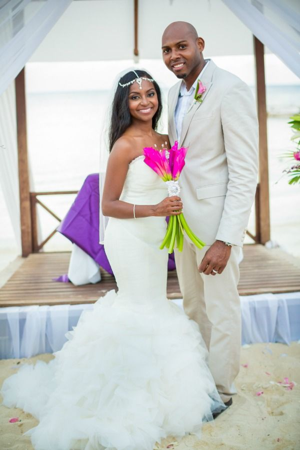 Montego Bay Jamaica Wedding From Dwayne Watkins Photography Bajan Wed Mermaid Beach Wedding Dresses Strapless Wedding Dress Mermaid Bridal Gowns Mermaid