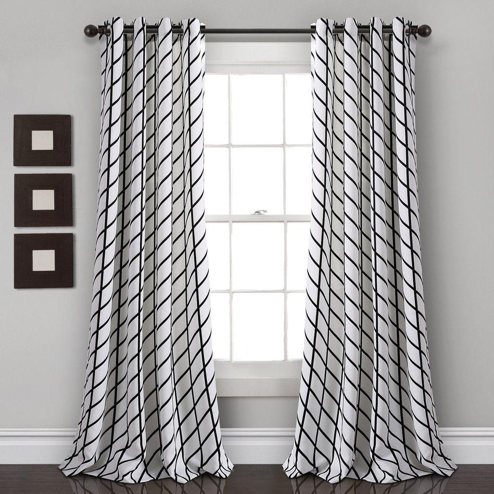 84 X52 Feather Arrow Geo Room Darkening Window Curtain Panels