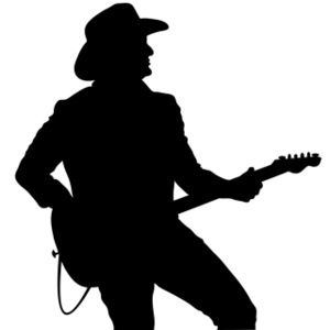 country silhouttes | Guitar Player Clipart Image - Country ...