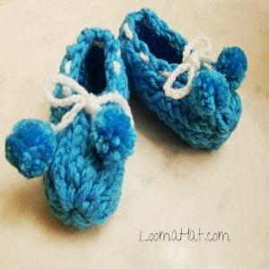 Zapatos de Bebe hechos con un Telar Redondo- Facil