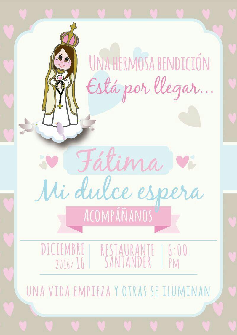 Tarjeta De Invitacion Baby Shower ... Mi Dulce Espera.