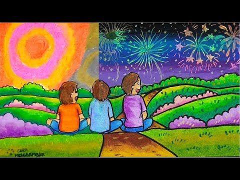 Cara Menggambar Dan Mewarnai Tema Tahun Baru 2020 Yang Bagus Dan Mudah Youtube Poster Drawing Art Drawings For Kids Scenery Drawing For Kids