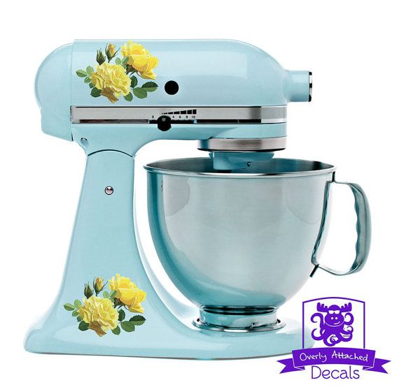 Yellow Roses Kitchen Stand Mixer Wrap By OverlyAttachedDecals