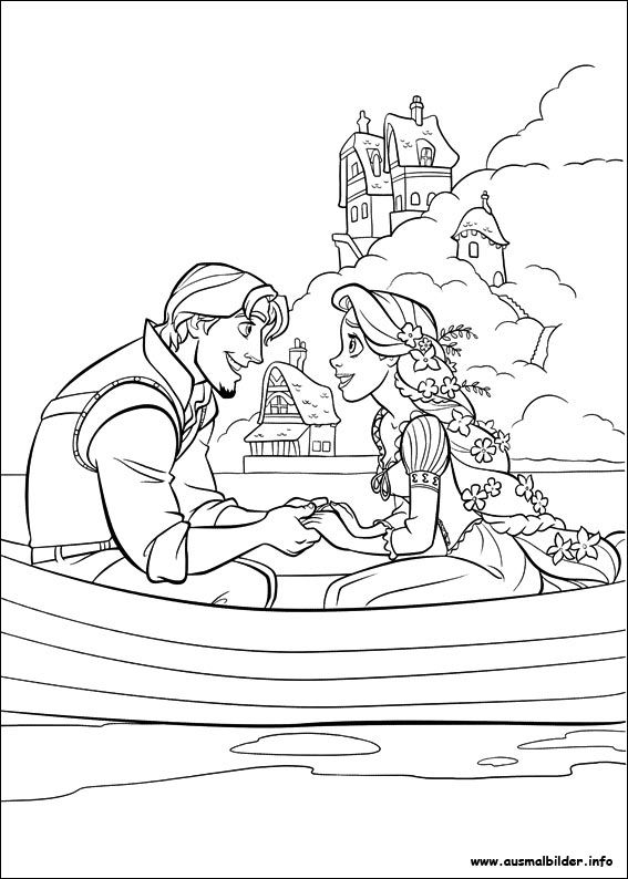 Rapunzel malvorlagen | Malbuch | Pinterest | Rapunzel, Coloring ...