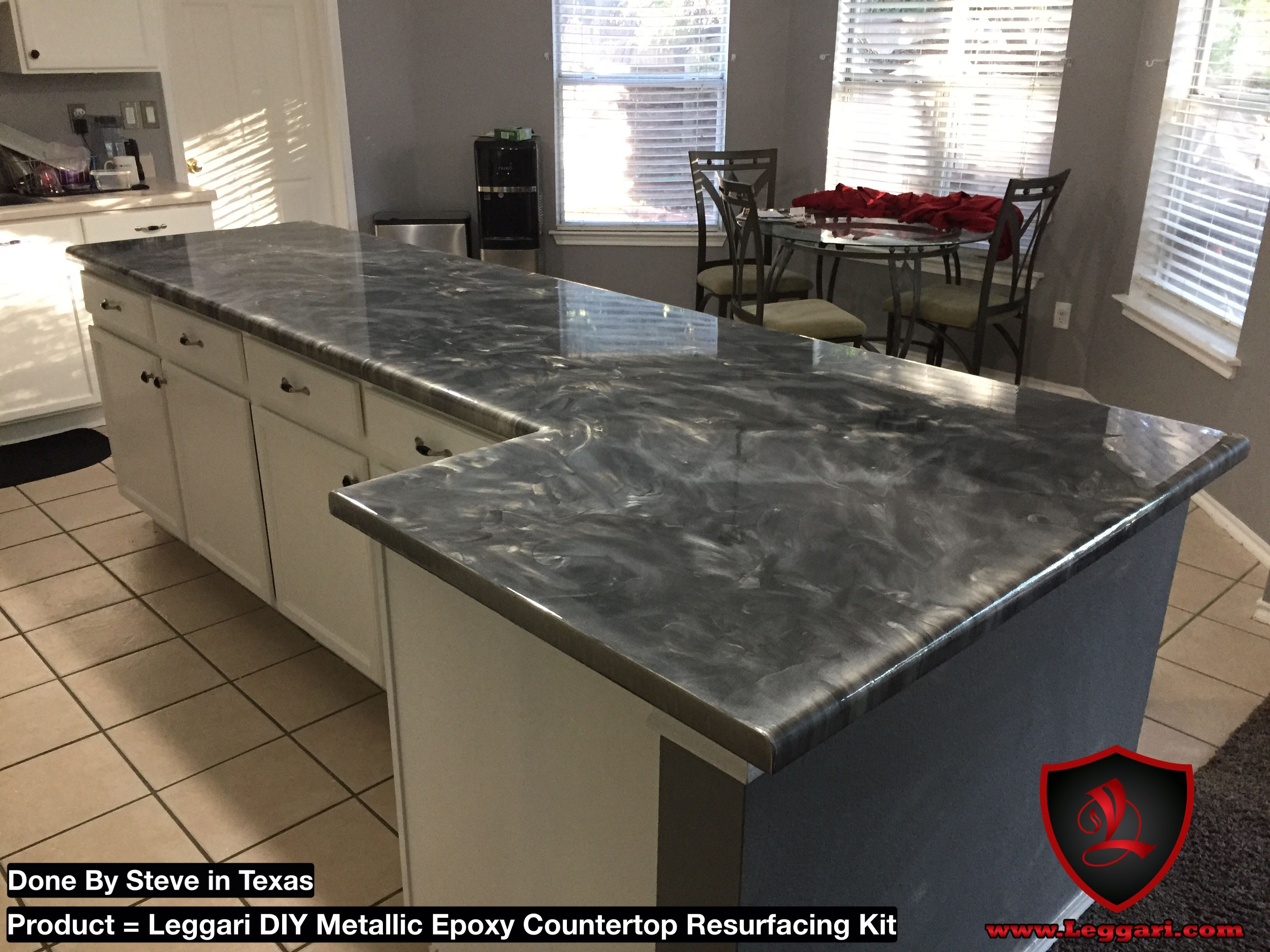 leggari diy countertop products this epoxy a coated the resurfacing metallic was kit with countertops pin