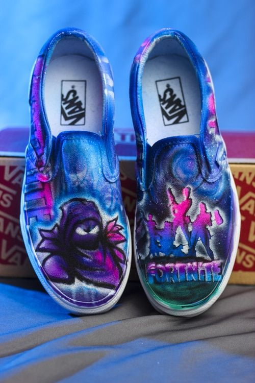 5ad7d0dee6316 fortnite shoes hand painted airbrush canvas sneakers. Design your own  gaming fornite shoes.  fortnite  vans