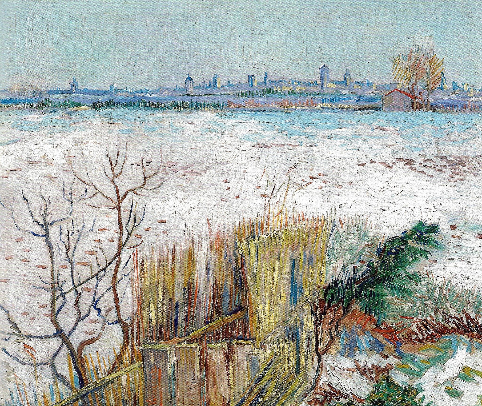 https://flic.kr/p/cVEx6E | Vincent van Gogh - Snowy Landscape with Arles in the Background, 1888 (Private Collection) Van Gogh: Up Close at Philadelphia Museum of Art | Vincent van Gogh - Snowy Landscape with Arles in the Background, 1888 (Private Collection) Van Gogh: Up Close at Philadelphia Museum of Art (Postcard)