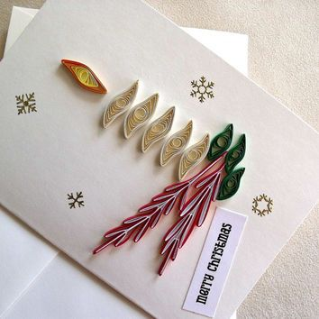 Handmade paper quilled christmas card merry christmas candle handmade paper quilled christmas card merry christmas candle m4hsunfo