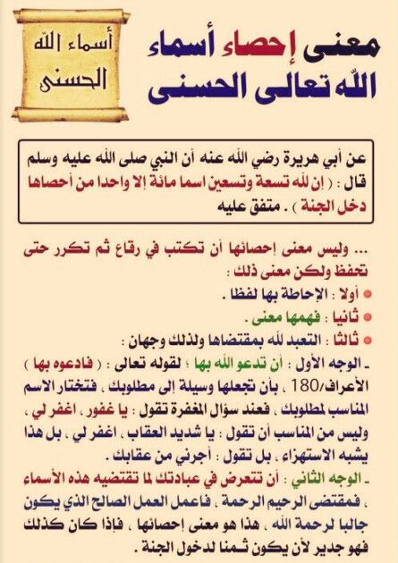 معنى إحصاء كلمات الله الحسنى Learn Islam Islamic Teachings Life Quotes