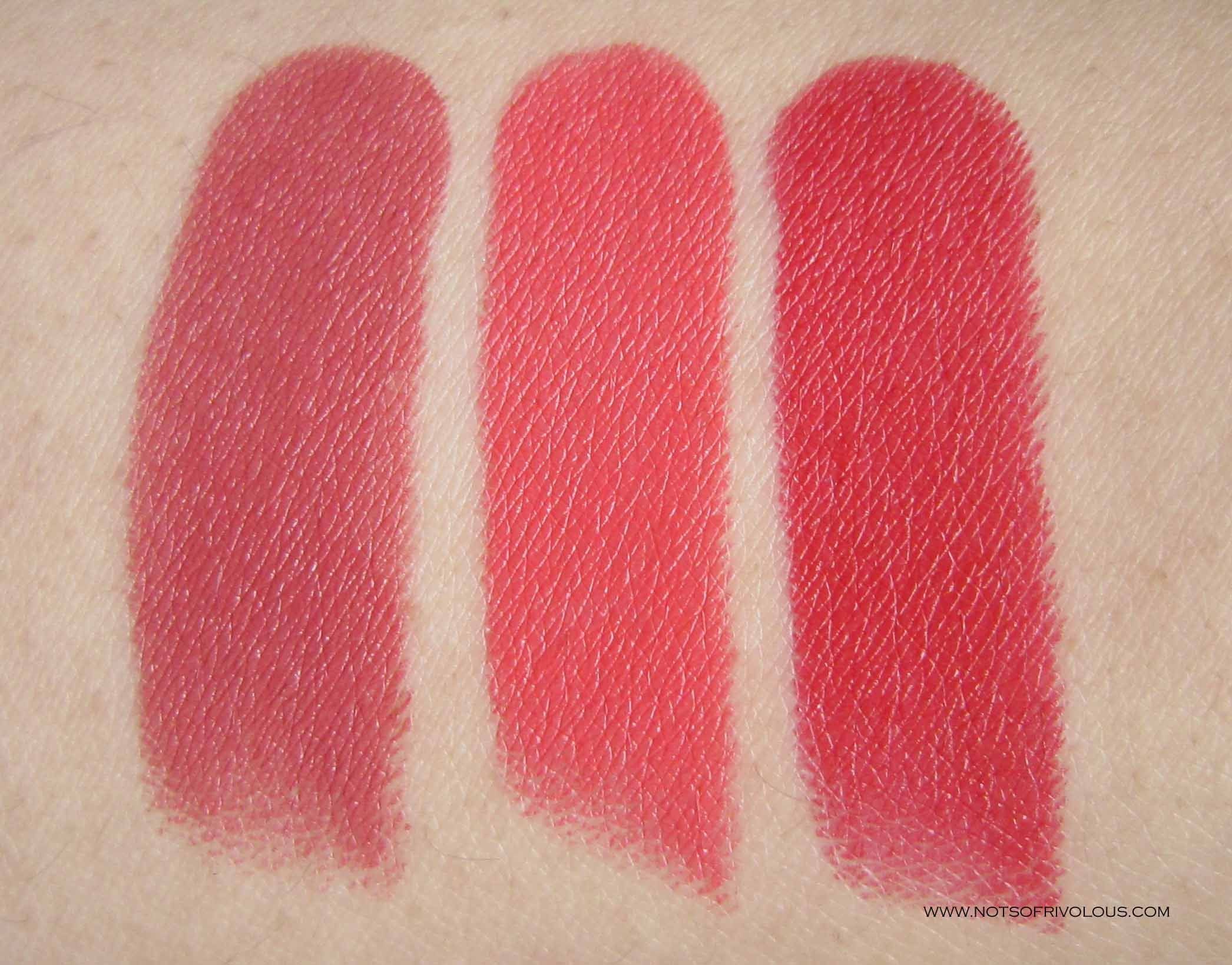 Estée Lauder Pure Color Envy Sculpting Lipstick In Rebellious Rose 420 Defiant Coral 320 Envious 34 Estee Lauder Pure Color Envy Pure Color Envy Swatch