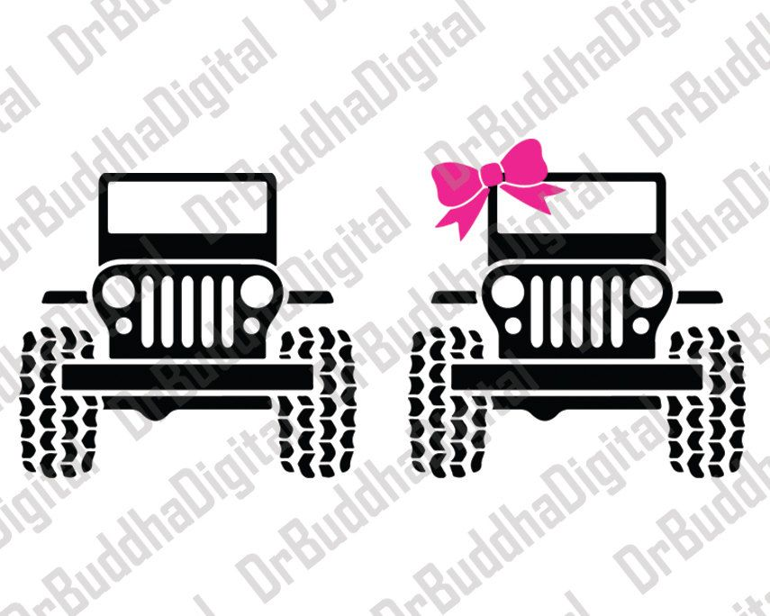 Jeep Svg Collection Jeep Dxf Jeep Clipart Svg Files For