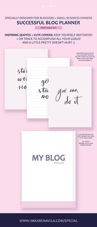 Printable Blog Planner, Blogging Planner, Blog Post Planning